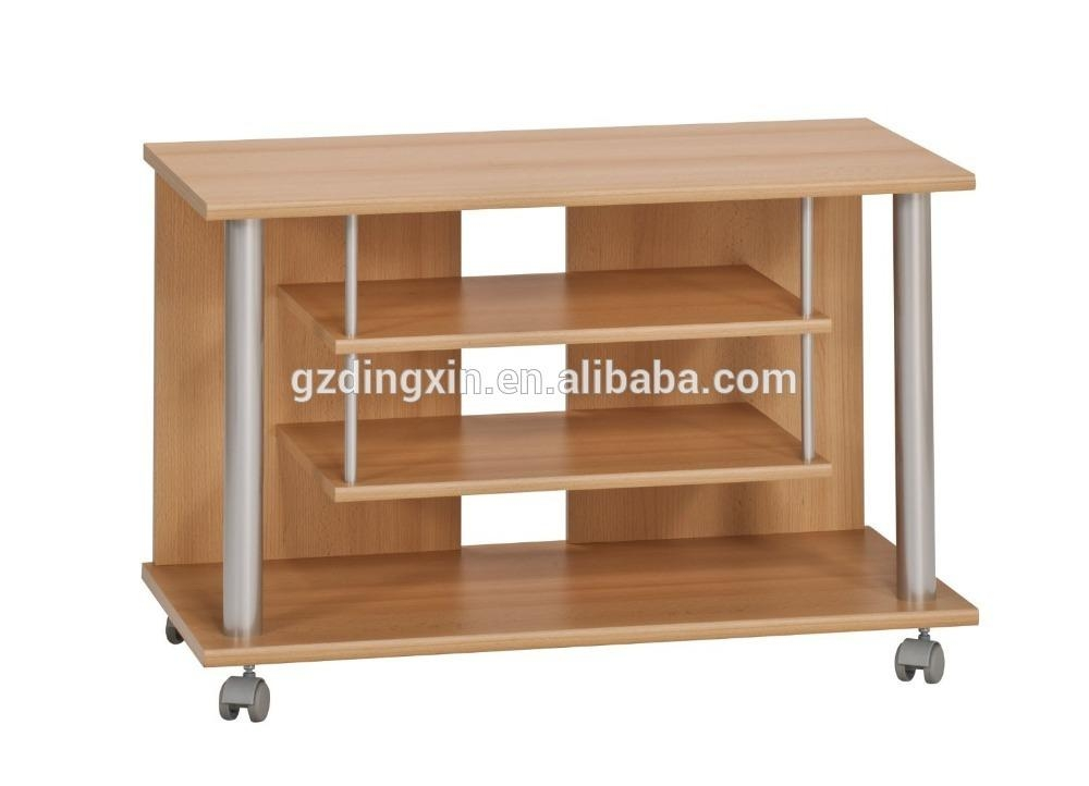 Wooden Lcd Tv Stand Design With Wheels Home Office – Buy Wooden With Regard To Best And Newest Wooden Tv Stand With Wheels (Image 20 of 20)