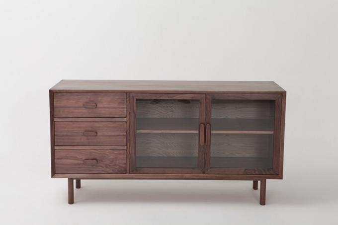 Wooden Television Stands 2 Glass Doors And 3 Drawers Dark Wood Tv Throughout Newest Dark Wood Tv Cabinets (View 11 of 20)