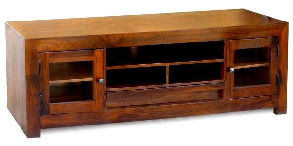 Wooden Tv Cabinet India | Sheesham Wood Tv Unit | Wood Cabinets Tv Intended For Best And Newest Sheesham Wood Tv Stands (View 4 of 20)