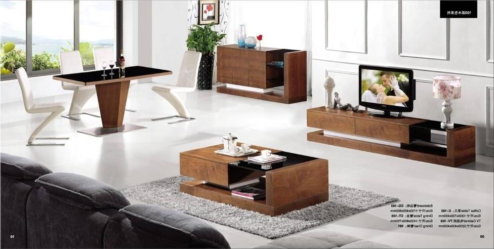 Wooden Tv Stand And Coffee Table Set – Thesecretconsul Throughout Best And Newest Tv Unit And Coffee Table Sets (Image 20 of 20)