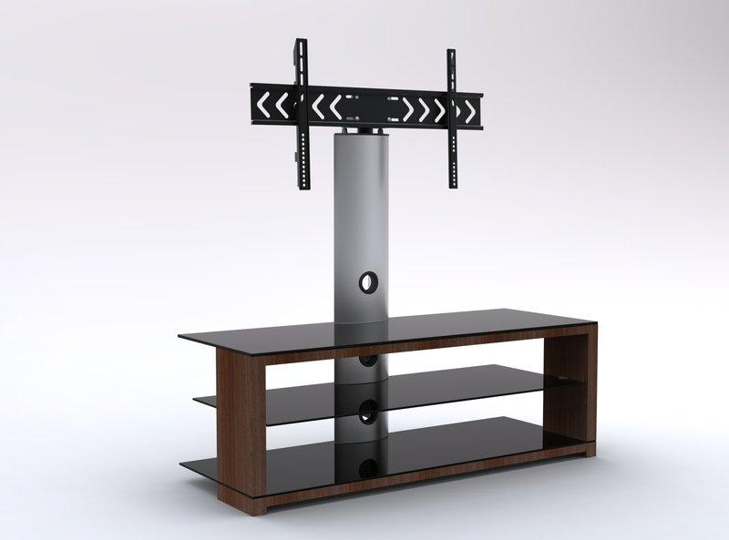 Wooden Tv Stand Extraordinaire | Black Glass Cantilever Tv Stand Intended For Recent Cantilever Tv (Image 19 of 20)