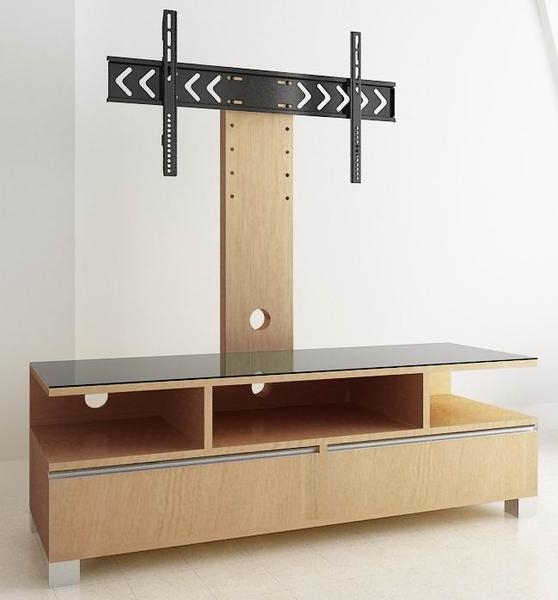 Wooden Tv Stand With Cabinets And Shelves – Tv Stand Wood Intended For Newest Cantilever Tv (Image 20 of 20)
