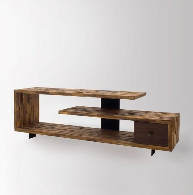 Wooden Tv Table ~ Interiors Design With Regard To 2017 Tv Table (Image 20 of 20)