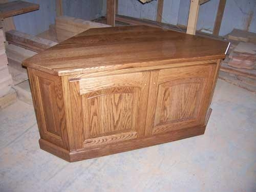 Woodloft – Locally Amish Custom Made Entertainment Centers Inside Most Recently Released Corner Oak Tv Stands (View 12 of 20)
