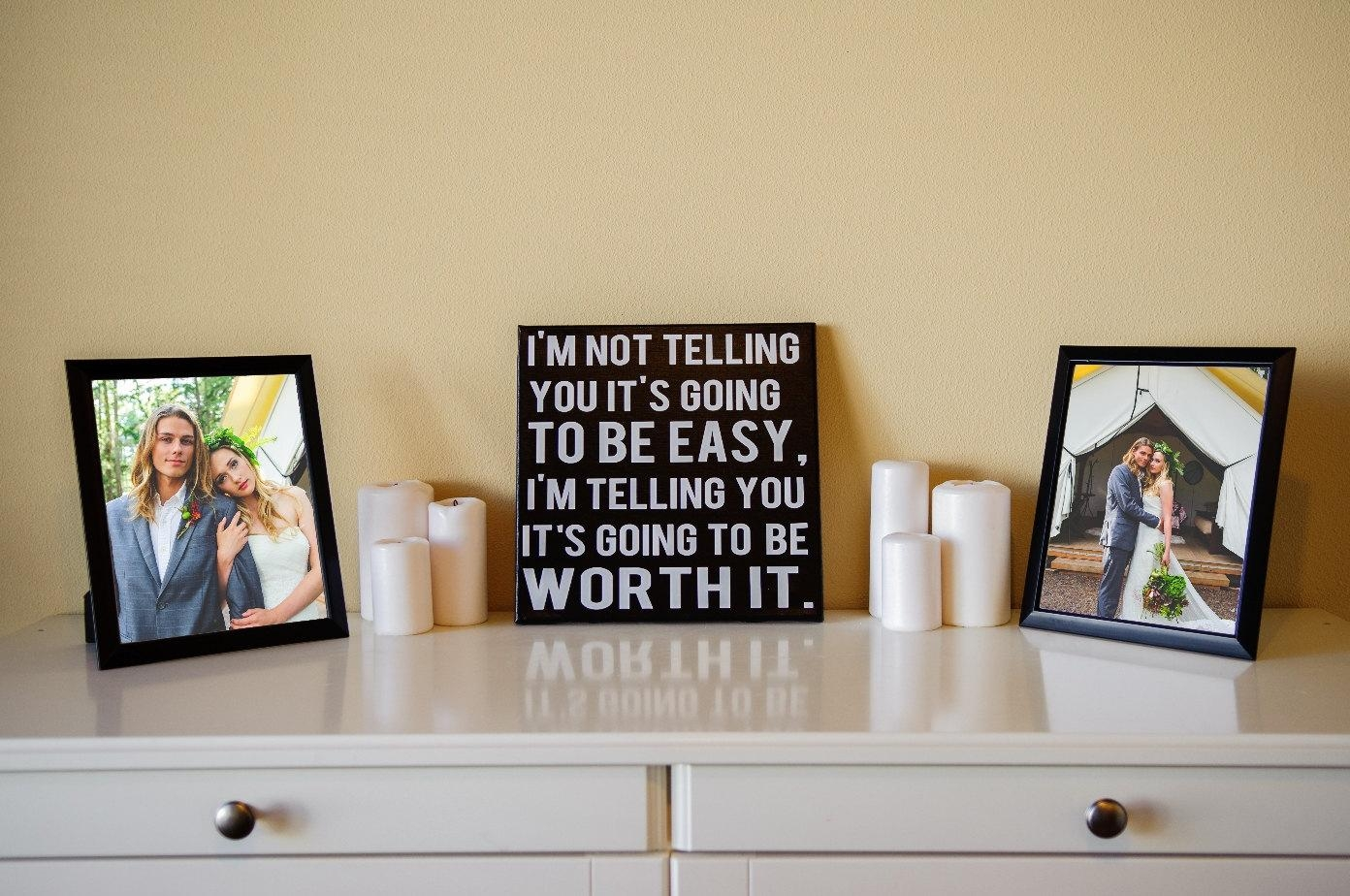 Worth It Sign Motivational Sign Inspirational Sign Gym In Wall Art For Home Gym (View 9 of 20)
