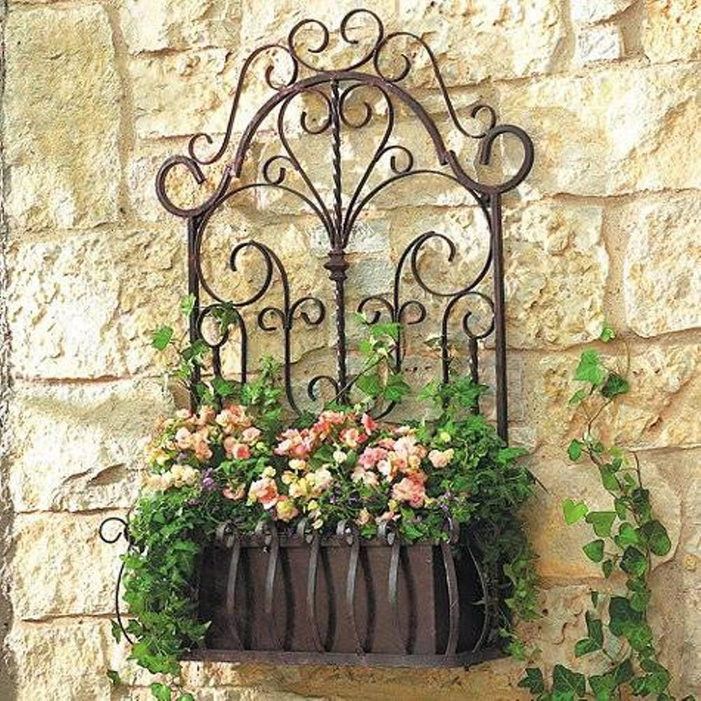 20 best ideas outdoor wrought iron wall art wall art ideas. Black Bedroom Furniture Sets. Home Design Ideas