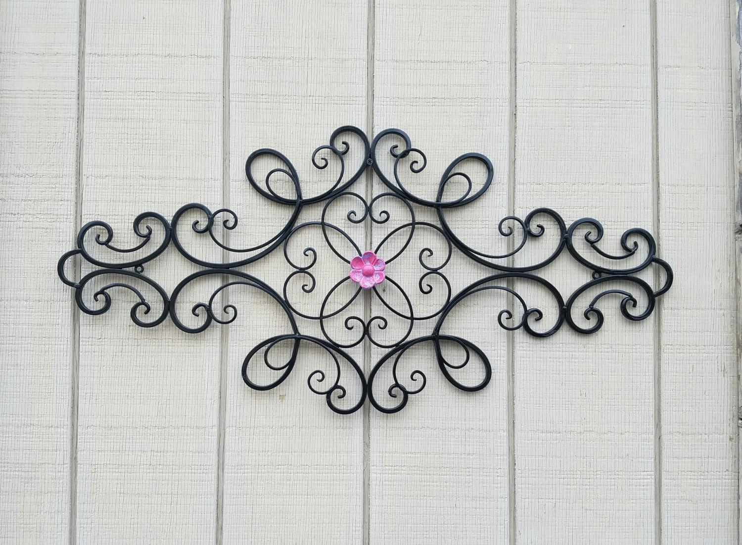 Wrought Iron Wall Art / Metal Wall Art / Large Metal Wall Art In Large Wrought Iron Wall Art (View 19 of 20)