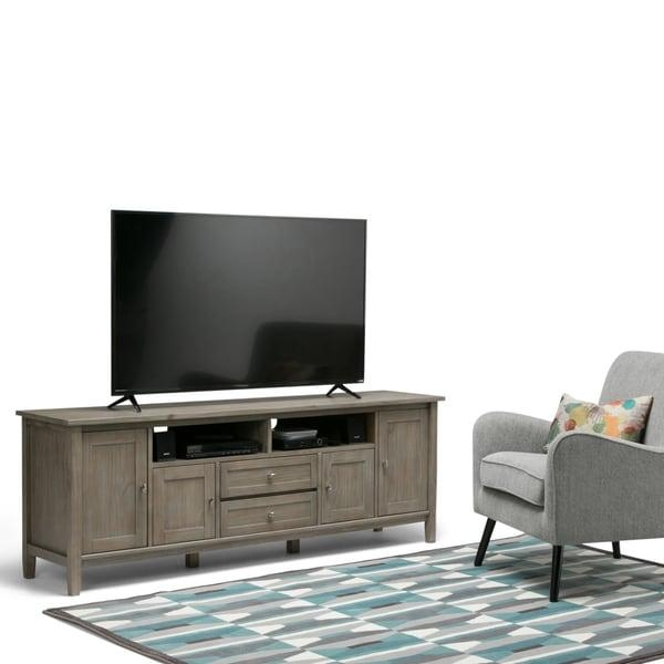 Wyndenhall Norfolk 72 Inch Tv Stand For Tvs Up To 80 Inches – Free Throughout Recent 80 Inch Tv Stands (Image 20 of 20)