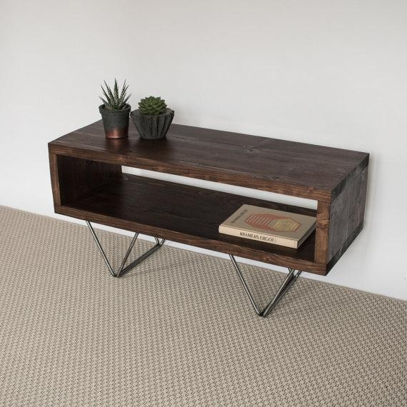 Xavi Reclaimed Wood Tv Stand Tv Cabinet Hairpin Legs inside Most Current Hairpin Leg Tv Stands