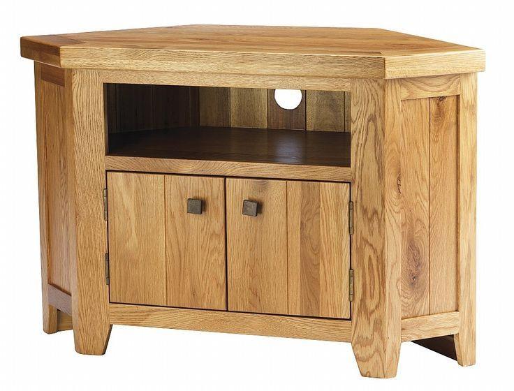 York Solid Oak Chunky Corner Tv Unit Cabinet Furniture | Corner Tv With Most Current Dark Wood Corner Tv Stands (View 14 of 20)