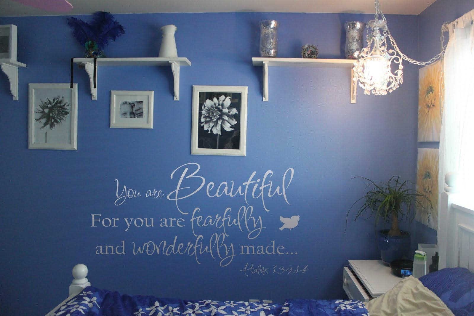 You Are Beautiful Fearfully Wonderfully Made Wall Decals - Trading inside Fearfully And Wonderfully Made Wall Art