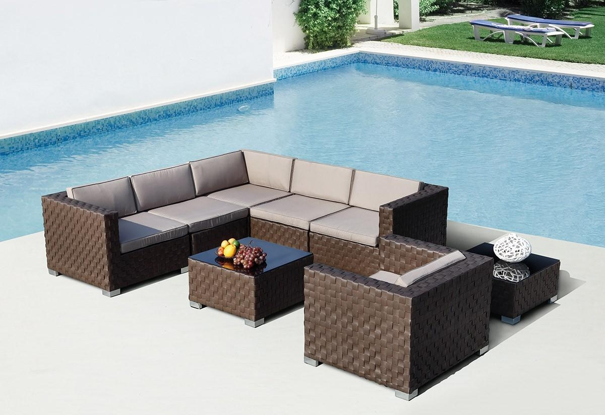 Your Yard Will Look Cool With Our Modern Patio Furniture And Regarding Modern Rattan Sofas (Image 23 of 23)