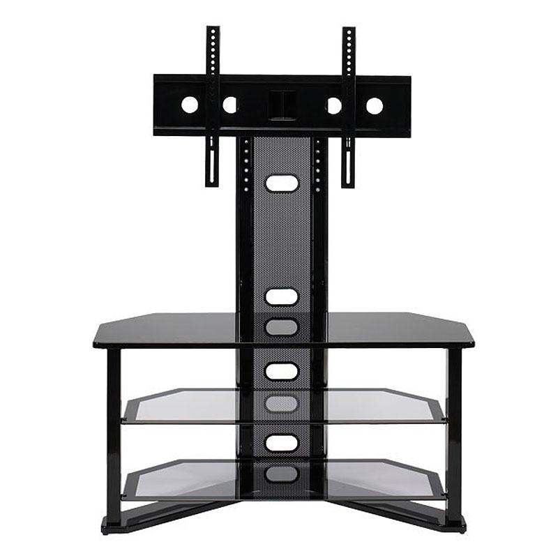 Z-Line Designs Madrid Corner Glass Tv Stand With Integrated Mount inside Newest 50 Inch Corner Tv Cabinets