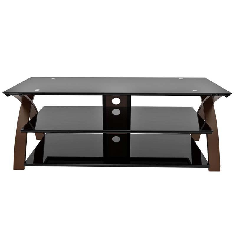 Z-Line Designs Willow 58 Inch Tv Stand Espresso And Black Glass within Most Up-to-Date Tv Stands for 55 Inch Tv