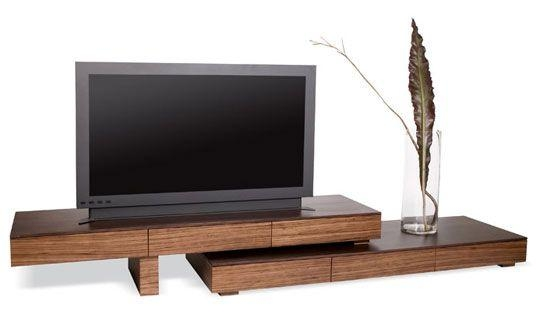 Zebra Wood Anguilla Tv Stand | Tv Stands, Tvs And Woods In Best And Newest Contemporary Wood Tv Stands (Photo 8 of 20)