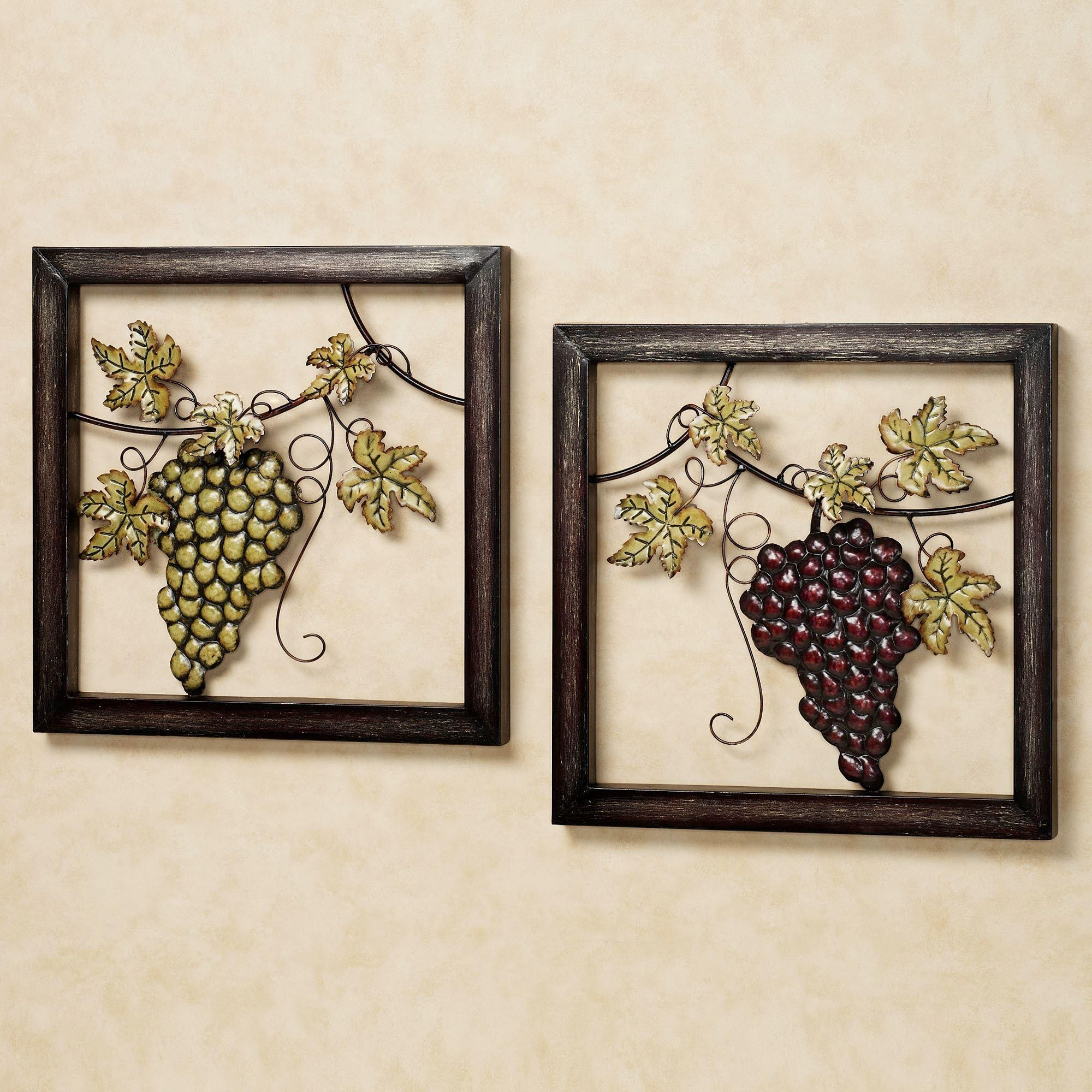 Zspmed Of Wine Wall Art Intended For Grape Vine Metal Wall Art (Photo 10 of 20)
