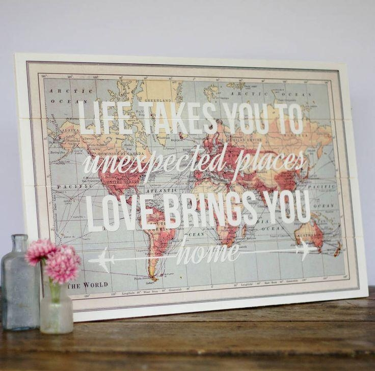 1000+ Ideas About Map Wall Art On Pinterest | Canvas Prints, World Throughout Framed Map Wall Art (Image 1 of 20)