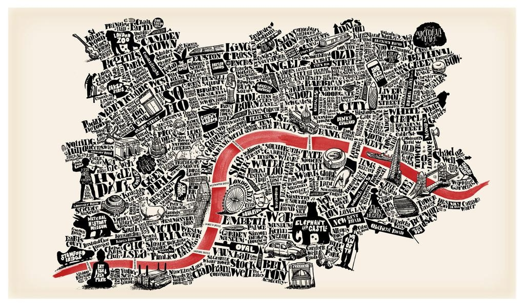 11 Hand Drawn Maps To Adorn Any London Lover's Wall – Now (View 6 of 20)