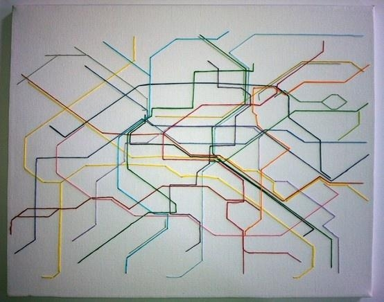 114 Best Art String Arts Images On Pinterest | Spikes, String Art Intended For Subway Map Wall Art (View 16 of 20)