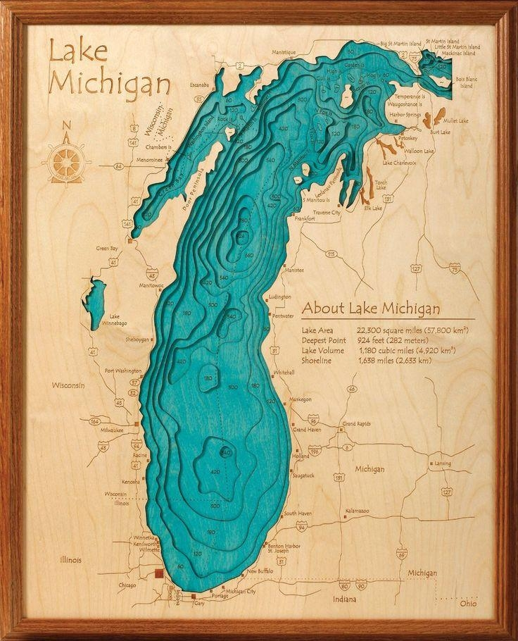 12 Best 3D Custom Lake Maps For Your Lake Images On Pinterest In Lake Map Wall Art (Image 1 of 20)