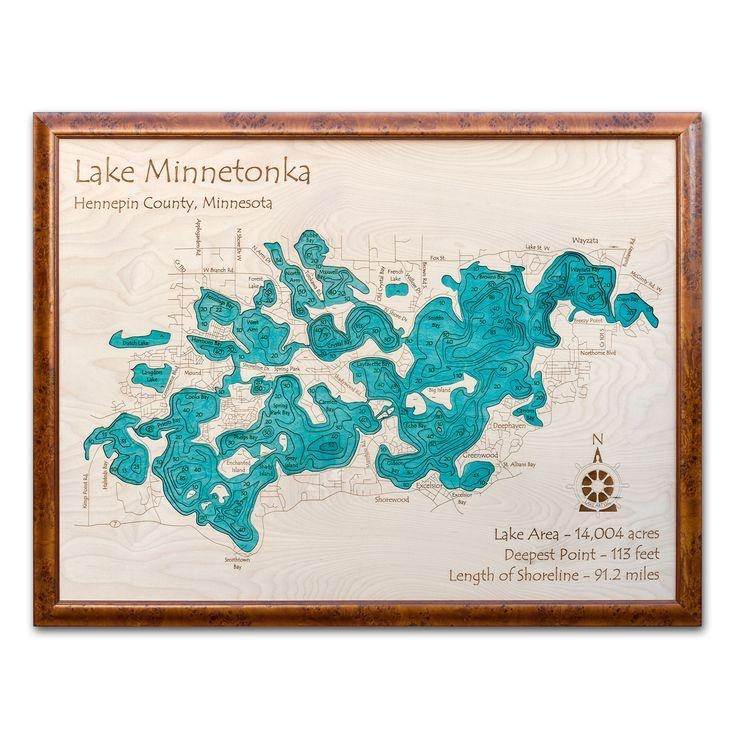 12 Best 3D Custom Lake Maps For Your Lake Images On Pinterest With Lake Map Wall Art (Image 2 of 20)