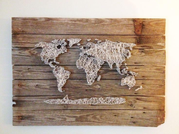 12 Best String Art Images On Pinterest | String Art, Art Walls And Regarding String Map Wall Art (View 12 of 20)