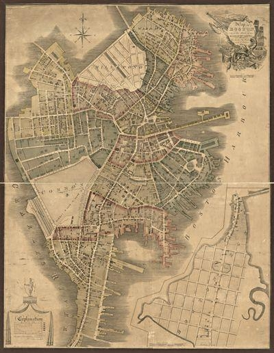 15 Best Boston Antique Maps Wall Art Images On Pinterest | Antique Pertaining To Boston Map Wall Art (View 2 of 20)