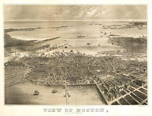 15 Best Boston Antique Maps Wall Art Images On Pinterest | Antique With Regard To Boston Map Wall Art (Image 4 of 20)