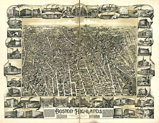 15 Best Boston Antique Maps Wall Art Images On Pinterest | Antique Within Boston Map Wall Art (View 14 of 20)