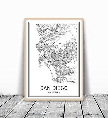 15 Best Handmade San Diego Images On Pinterest | Family Rooms Intended For San Diego Map Wall Art (Image 1 of 20)