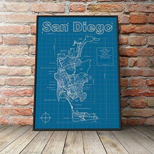 15 Best Handmade San Diego Images On Pinterest | Family Rooms Throughout San Diego Map Wall Art (Image 2 of 20)