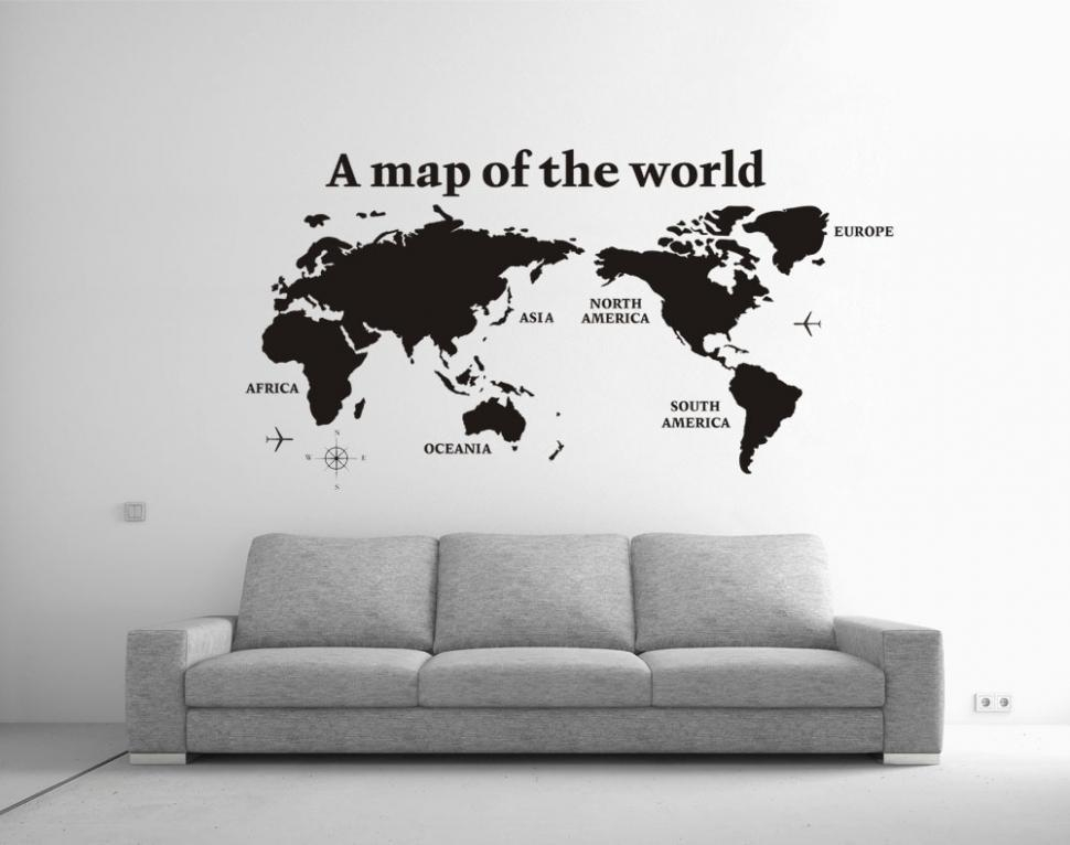 15 Collection Of Cool Wall Art Throughout Cool Map Wall Art (Image 1 of 20)