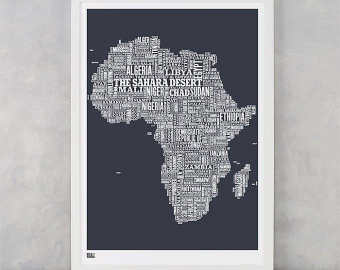 151 Best Words Wall Art Images On Pinterest | Creative Ideas For Africa Map Wall Art (Image 2 of 20)