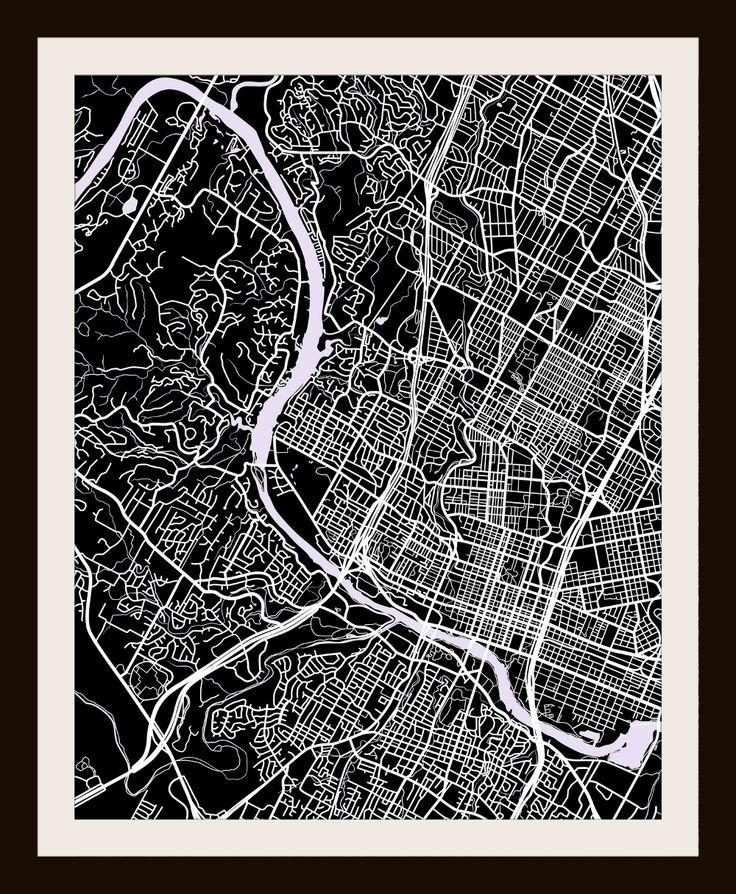 18 Best Map Art Images On Pinterest | Cartography, Map Art And Cards Within City Prints Map Wall Art (Image 1 of 20)