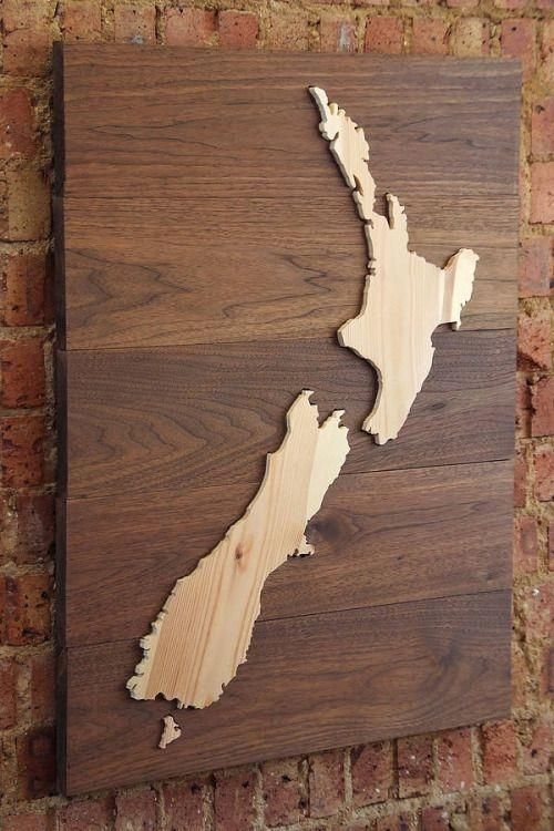 18 Best Map Art Images On Pinterest | Laser Cutting, Woodworking For New Zealand Map Wall Art (Photo 5 of 20)