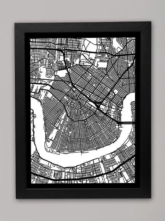 Featured Image of New Orleans Map Wall Art