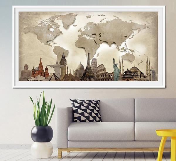 20 Best Extra Large Wall Art World Map Images On Pinterest | Maps With Regard To Travel Map Wall Art (Image 2 of 20)