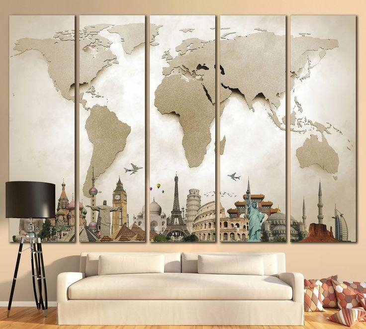 20 Best Extra Large Wall Art World Map Images On Pinterest | Maps Within Large World Map Wall Art (Image 2 of 20)