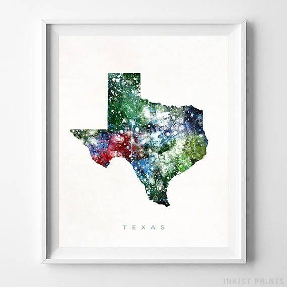 21 Best Watercolor Map Wall Art Printinkist Prints (Image 4 of 20)