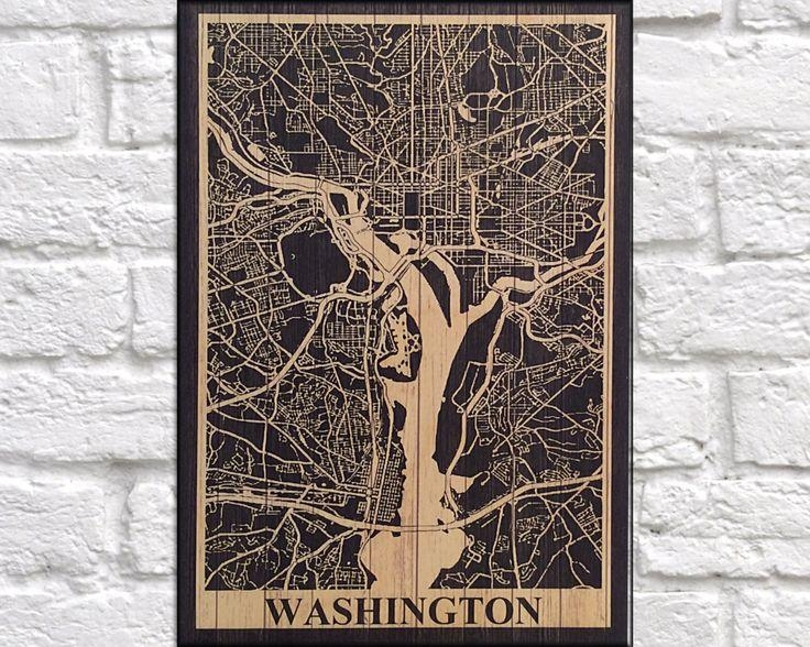 22 Best Wood Wall Art Flags & Map Art Images On Pinterest | Wood Inside Washington Dc Map Wall Art (Image 1 of 20)