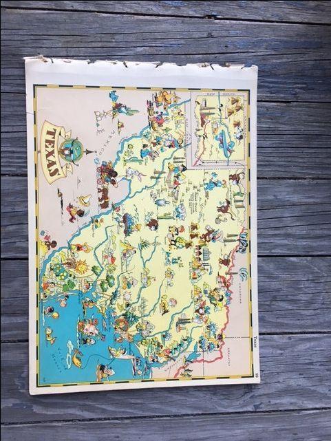 228 Best Fmn Misc Ephemera Images On Pinterest | Ephemera, Book Pertaining To Texas Map Wall Art (Image 5 of 20)