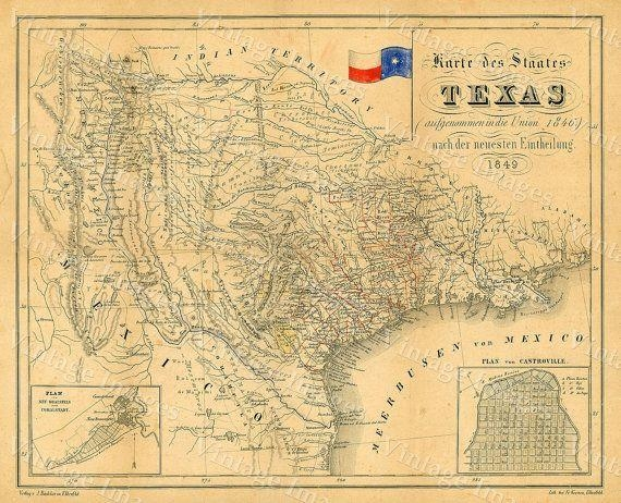 23 Best Texas Images On Pinterest | Antique Maps, Old Maps And Throughout Texas Map Wall Art (View 4 of 20)