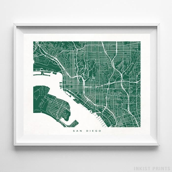 266 Best Usa Street Map Wall Art Printinkist Prints (Image 4 of 20)