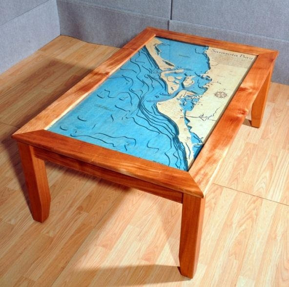 3 D Nautical Chart Art – Marine Art As Wall Charts And Table Charts With Regard To Nautical Map Wall Art (Image 4 of 20)