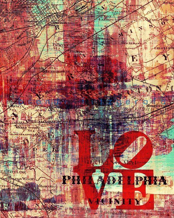 31 Best Philadelphia Images On Pinterest   Philadelphia In Philadelphia Map Wall Art (Image 1 of 20)