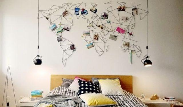 31 Cool Travel Themed Home Décor Ideas To Rock – Digsdigs Pertaining To String Map Wall Art (View 8 of 20)
