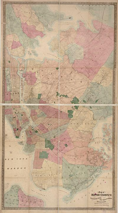 32 Best New York Antique Map Wall Art Images On Pinterest Intended For Nyc Map Wall Art (Image 2 of 20)