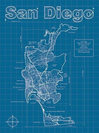 32 Best San Diego Maps Images On Pinterest | Maps, Cards And San Diego throughout San Diego Map Wall Art