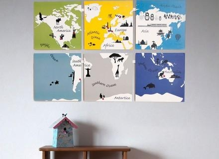 36 World Map Wall Art For Kids, World Map Art Animal World Map For With Kids World Map Wall Art (Image 1 of 20)
