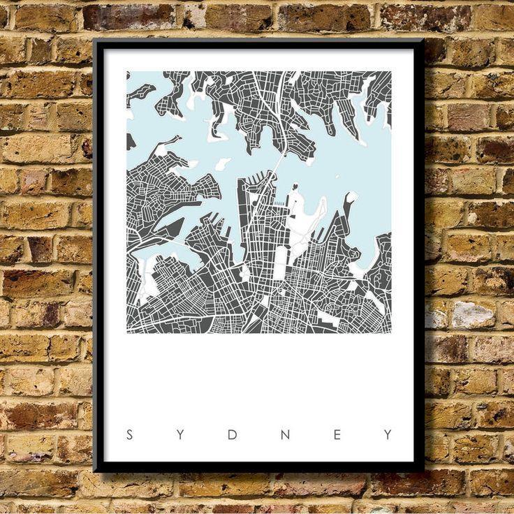 37 Best City Map Prints Images On Pinterest | City Maps, Print Regarding City Prints Map Wall Art (Image 4 of 20)